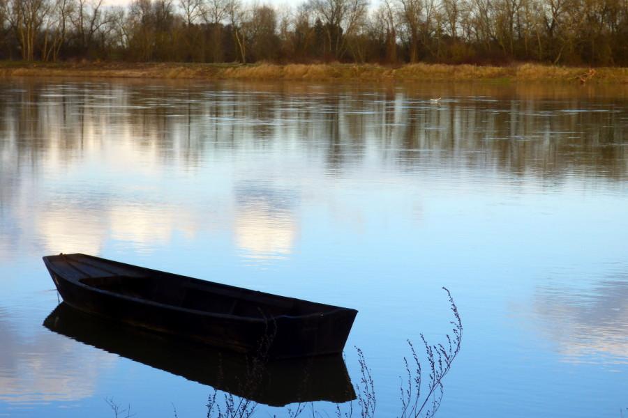 barque sur la Loire à Tavers dans le Loiret