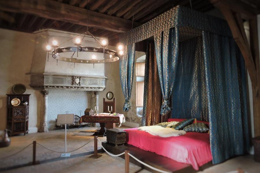 Une des pièces à visiter du chateau Dunois de Beaugency dans le val de Loire