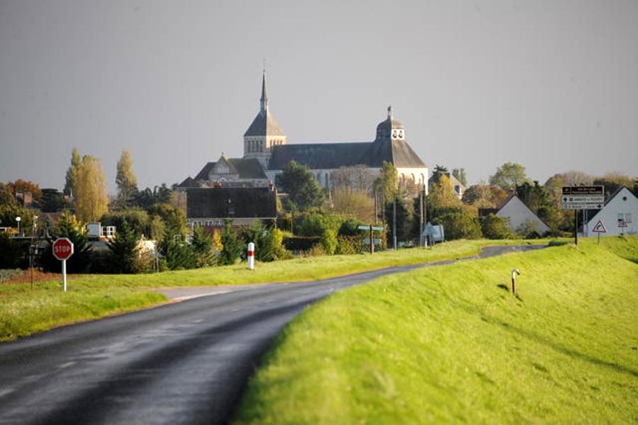 Abbaye de Saint Benoit sur Loire dans le Loiret, Val de Loire