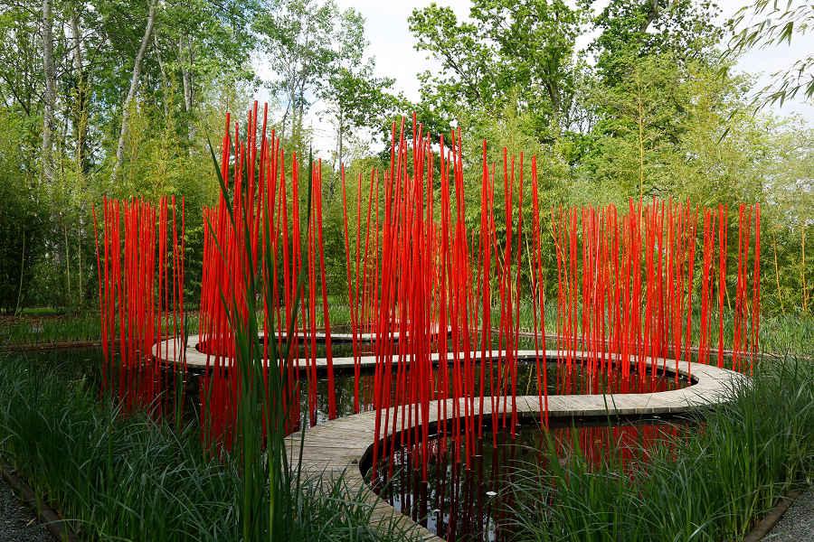 festival des jardins contemporains de Chaumont sur Loire au milieu des Chateaux de la Loire