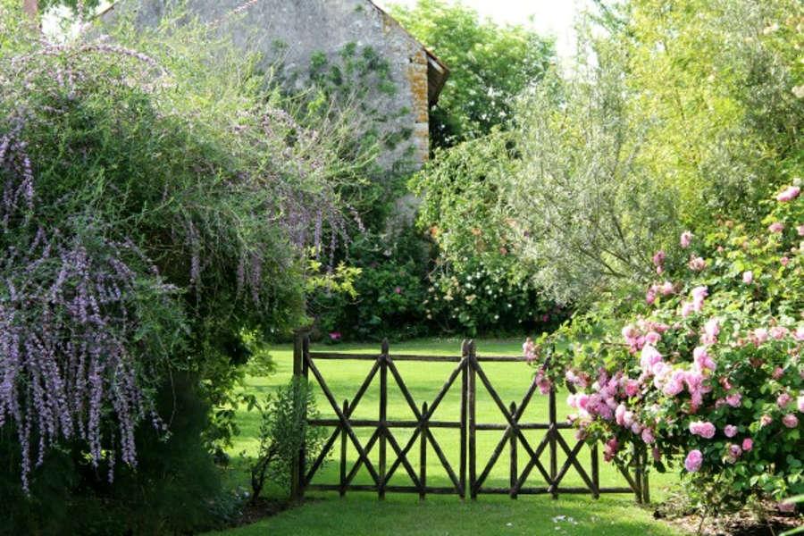 les jardins de roquelin de Meung sur Loire dans le Loiret, région centre Val de Loire