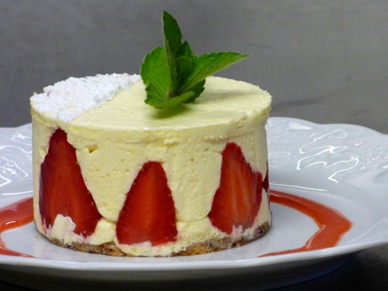 fraisier proposé à l'hotel la Tonnellerie dans la région des chateaux de la Loire