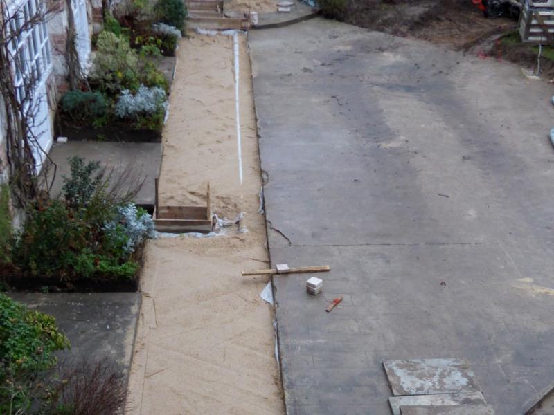 fermeture du caniveau technique de chauffage suite aux travaux de plomberie hotel la tonnellerie tavers orleans