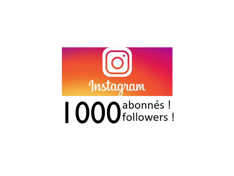 THANK YOU to the Instagram followers!